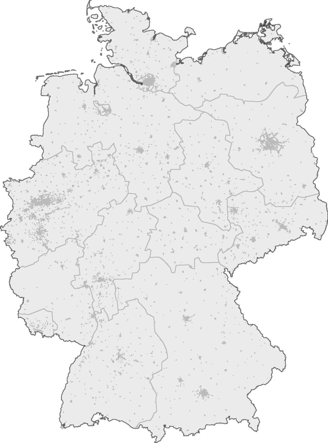 Landkarte Deutschland Umriss Top Sehenswurdigkeiten